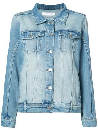 jacket denim jacket denim vintage women cotton blue