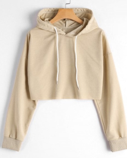 sweater girly nude hoodie crop cropped cropped sweater