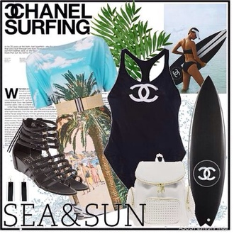 swimwear surf chanel summer sports