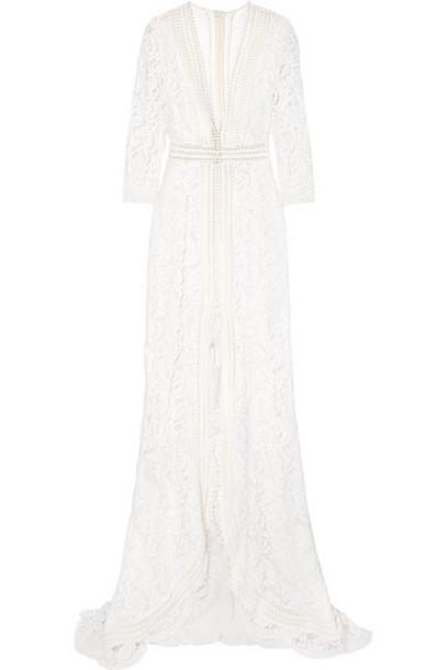 Galvan - Sevilla Cotton-blend Lace Gown - White