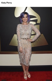 dress,formal dress,grammys 2015,katy perry,sandals,shoes