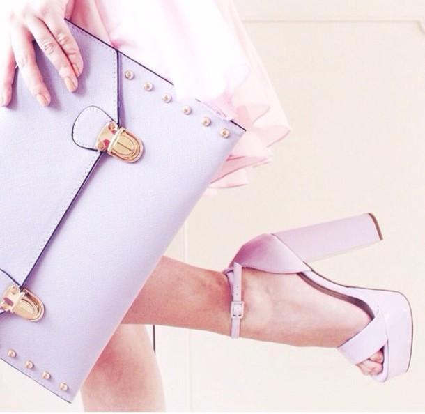 shoes bag heels prom pastel bag
