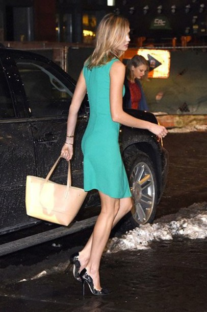 dress karlie kloss shoes bag