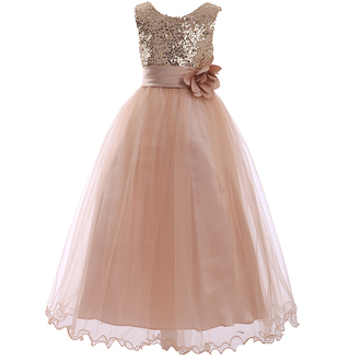 dress sequined flower girl dress tulle kid dresses tutu kid dresses sequined kid dresses party dress champagne prom dress champagne flower girl dresses