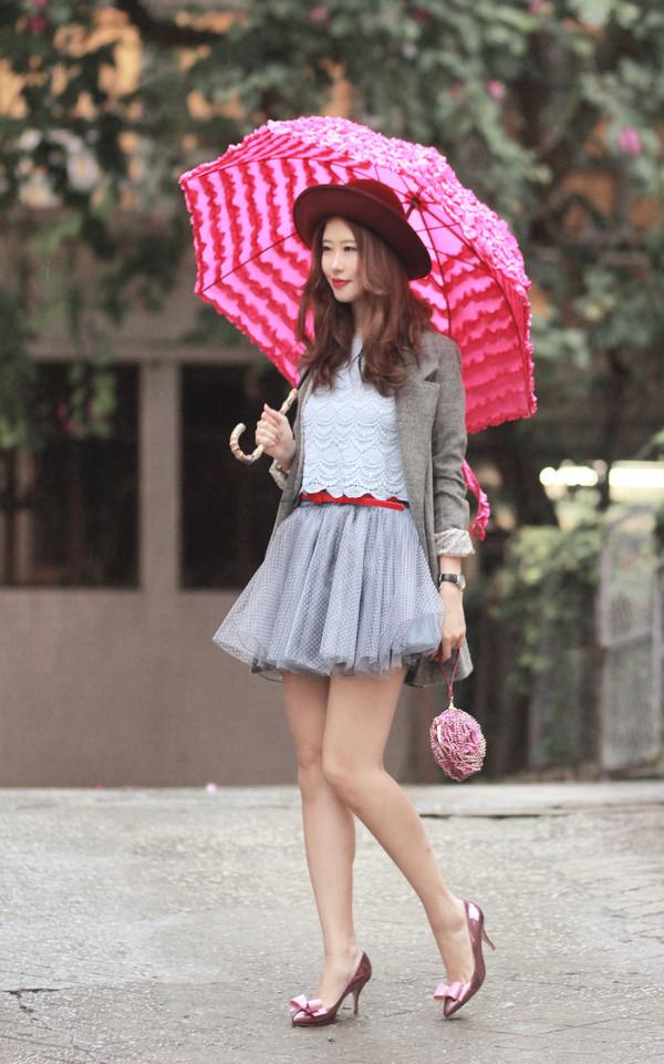 mellow mayo jacket t-shirt belt skirt bag shoes