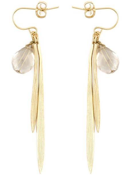 Wouters & Hendrix women earrings silver grey metallic jewels