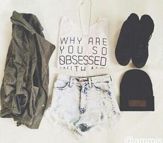 hat jacket shoes shorts t-shirt
