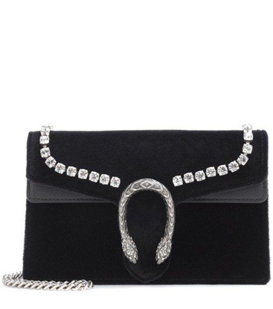 mini bag shoulder bag velvet black