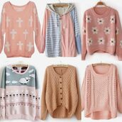 jacket,pink,hoodie,cute,knit,pastel,blue,grey,peach,sweater,cross,coral,button up,cardigan,short,zip,sheep,loose,shirt