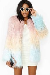 coat,faux fur coat