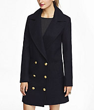 DROP DOUBLE BREASTED COAT | Express