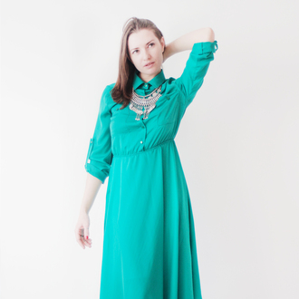 dress green dress green shirt dress silky dress shirt 50s dress 50 s style playsuit x boho dress prom dress midi dress long sleeved long sleeved dress long sleeve dress green summerdress black n green summer dress simple dress classic style bohemian dress bohemian style boho style everyday wear everyday dress streetstyle streetwear every day wear