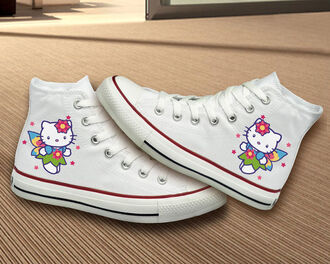 shoes clothes women custom custom painted shoes hand painted shoes painted shoes converse painted converse hello kitty hello kitty shoes hello kitty painted hello kitty converse hellokittyshoes