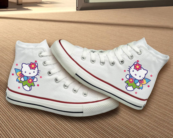 shoes clothes women custom custom painted shoes hand painted shoes painted shoes converse painted converse hello kitty hello kitty shoes hello kitty painted hello kitty converse hello kitty hellokittyshoes