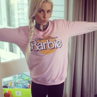 hoodie girly barbie california blonde hair kawaai