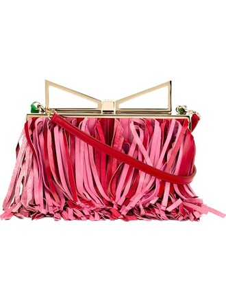 lady clutch red bag