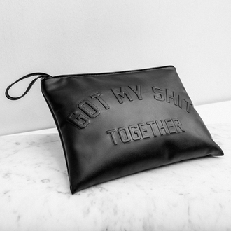 bag leather sexy clutch