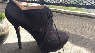 shoes black suede oxfords heels black oxfords black heels