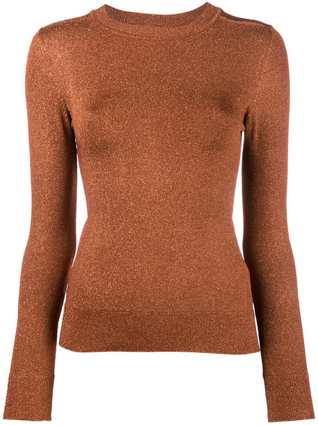 JoosTricot sweater women spandex brown copper