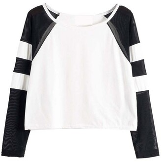 shirt top mesh black white black and white winter outfits cute spring outfits varsity varsity tee t-shirt