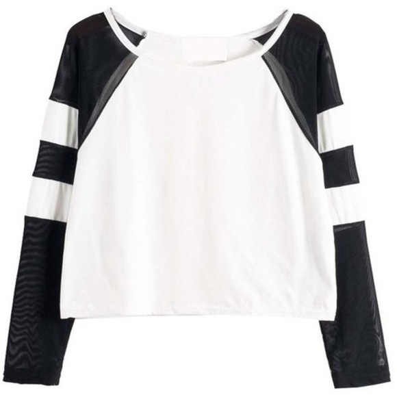 shirt top varsity black white mesh black and white winter outfits cute spring fashion spring trends 2014 varsity tee t-shirt