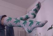 socks,white,white dress,marijuana,green dress,cute dress,cute,tumblr,tumblr girl,pale grunge