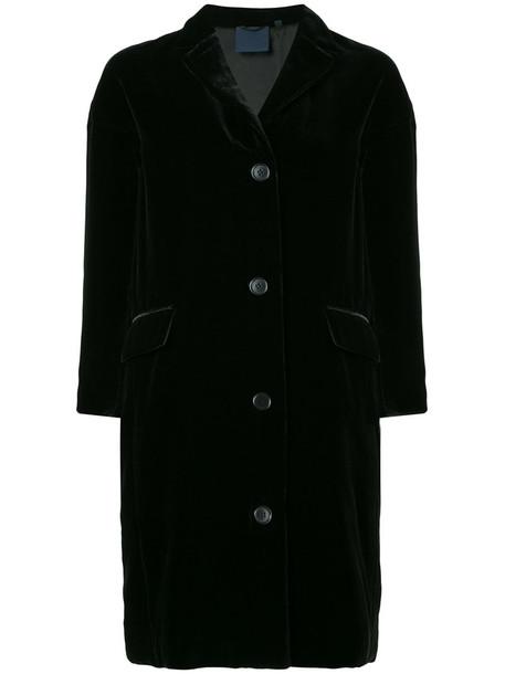 ASPESI jacket women black silk velvet