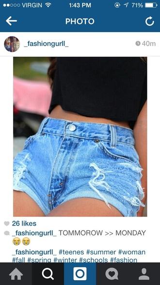 shorts denim shorts high waisted shorts ripped shorts