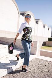 styleofsam,blogger,belt,jacket,top,dress,jeans,jewels,shoes,bag,sunglasses