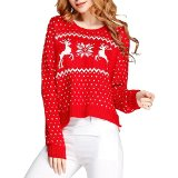 Amazon.com: reindeer snowflake sweater red
