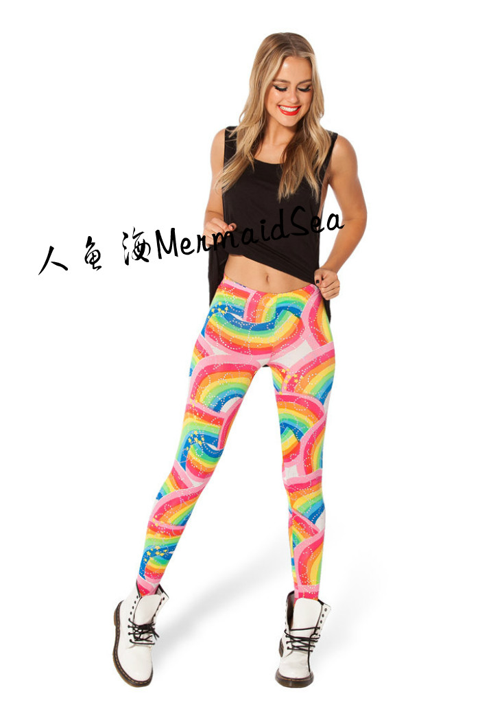 Taobao 2014 european and american fashion rainbow print leggings pants leggings pencil pants female feet foreign trade wholesalezqtptuqlino from english agent:buychina.com