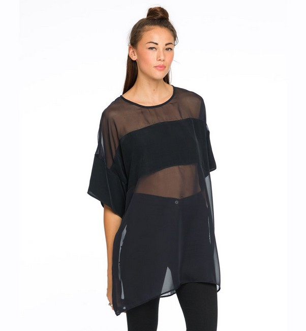 Tania sheer black long shirt · fashion struck · online store powered by storenvy