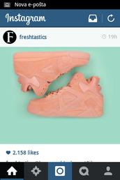 fila,sneakers,peach,high top sneakers,women