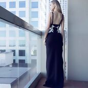 dress,Eve Vardar,designer dress,maxi dress,long dress,black dress,formal dress,celebrity in black
