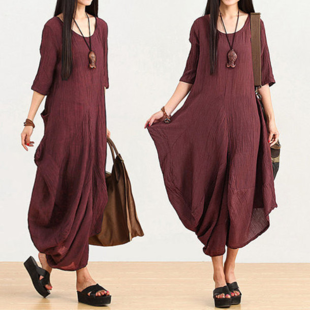 Buykud Linen Dress Women Dress Maxi Dress Plus Size Dress