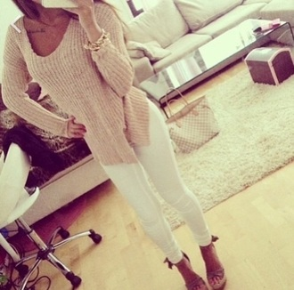 nude sweater beige beige sweater dope indie grunge vogue