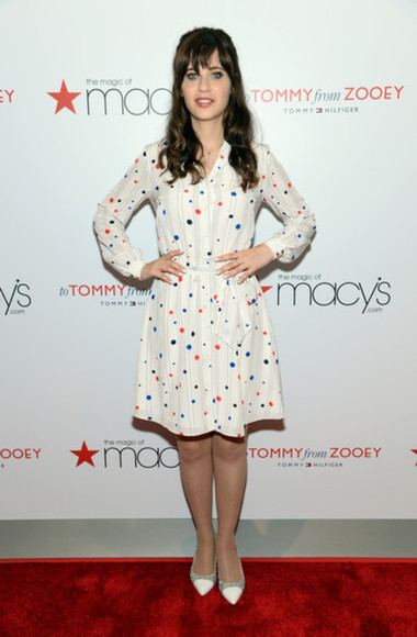 dress new girl zooey deschanel jess day tommy hilfiger