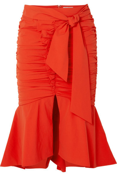 Rebecca Vallance skirt midi skirt midi orange