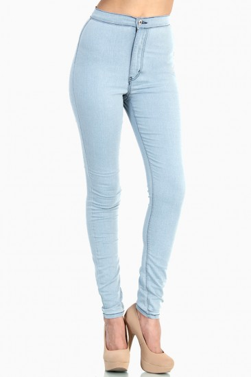 Super high waist fitted skinny jeans