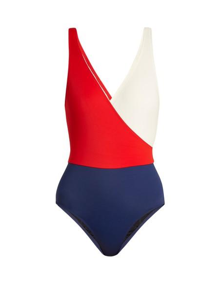 Solid & Striped blue swimwear