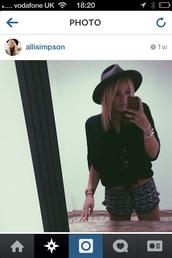 shorts,ali simpson,floral,pattern,patternshorts,summer,hat,sunglasses