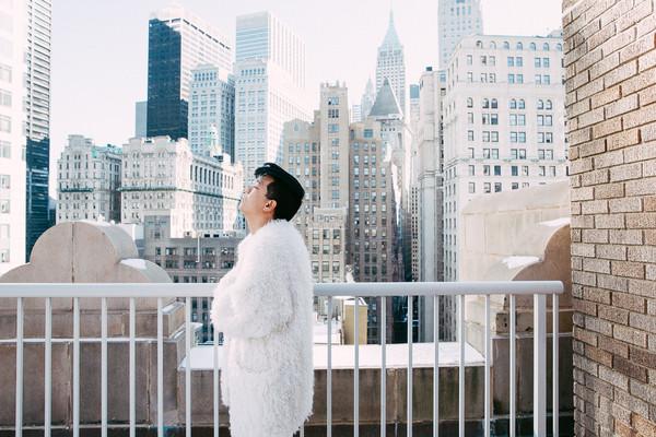 bryan boy blogger fuzzy coat white coat