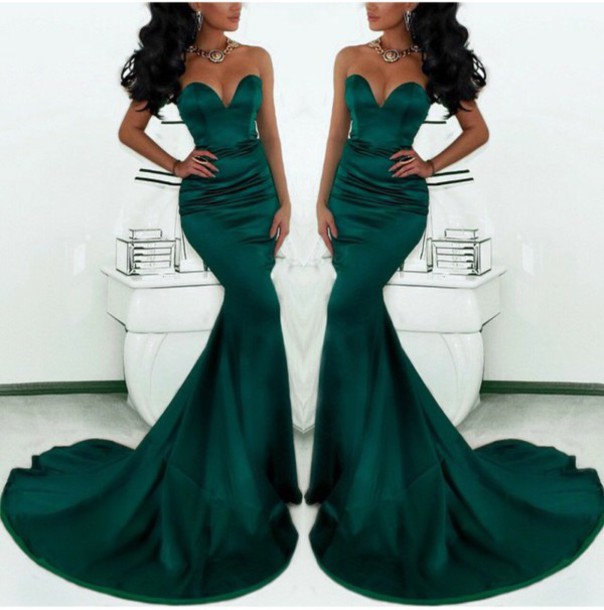 Emerald Green Prom Gown - Shop for Emerald Green Prom Gown on ...