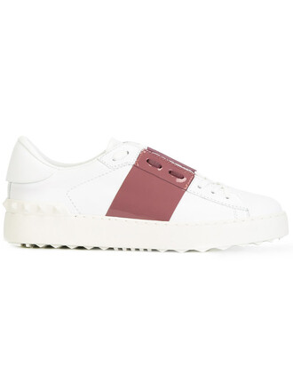 open women sneakers leather white shoes