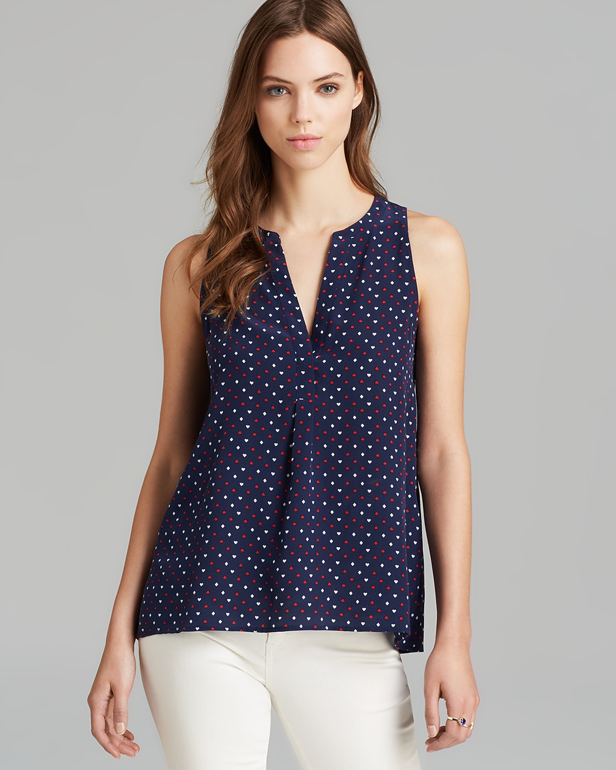 Joie Tank - Aruna Playing Cards Print | Bloomingdale's