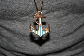 jewels,stripes,blue,necklace,anchor