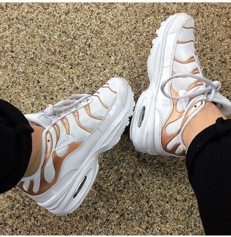 shoes nike nike shoes gold flames white nike air max 90