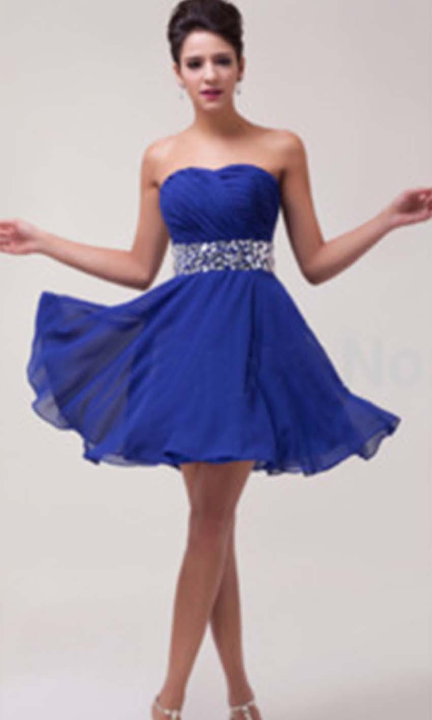 Sparkle Red Strapless Crystal Belt Short Prom Dress KSP365 [KSP365 ...