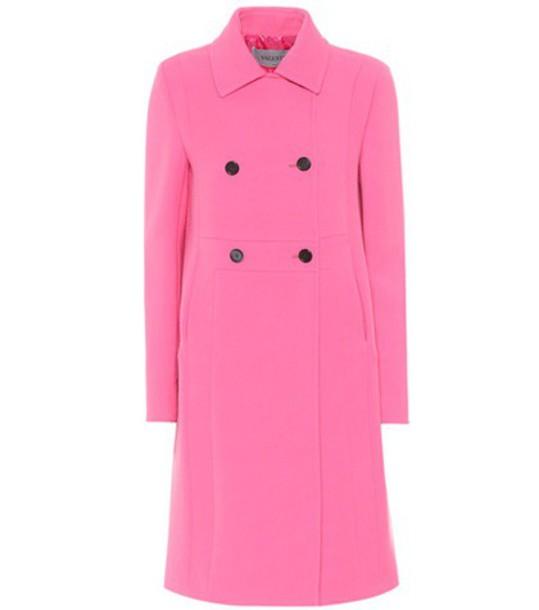Valentino coat wool coat wool pink