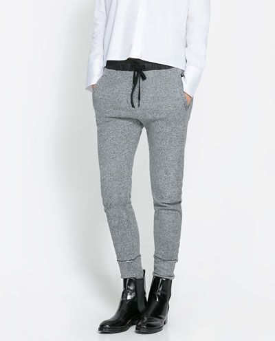 Autumn winter za brand design fashion women lady pencil pants casual ol elastic waist trousers